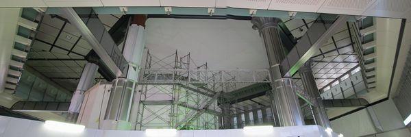 北口ドーム天井の全景(3枚合成)