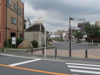 新太田町駅跡の広場。<