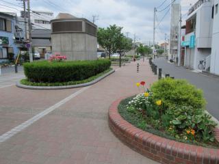 東白楽~反町間のほぼ中央付近。「フラワー」の名に相応しく、季節の花々が多くみられる。