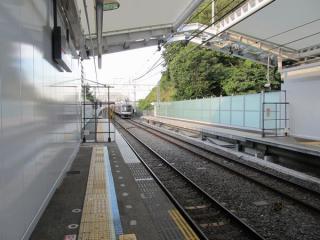 渋谷方の延長部分のホーム