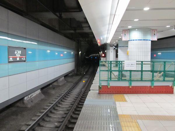延長部分が再度立入禁止となった横浜駅