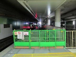 田園調布駅上り線渋谷方に延長されたホーム。ほぼ完成状態。