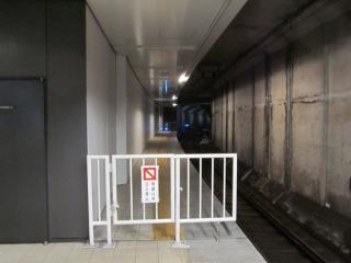 馬車道駅渋谷方に延長されたホーム(下り線)