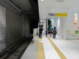 元町・中華街駅終端側に延長されたホーム(1番線)