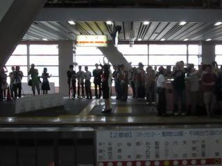 営業運転初日に千葉駅で開催されたイベント。