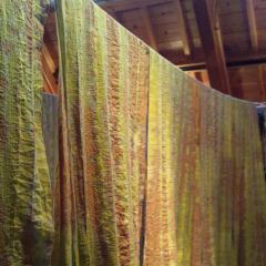 結城で草木染めmini