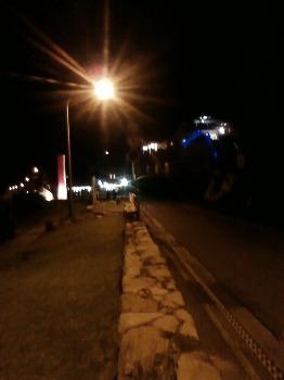 夜の前浜海岸