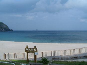 8月1日の朝の前浜