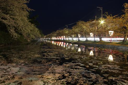 弘前城公園夜景(1)-1