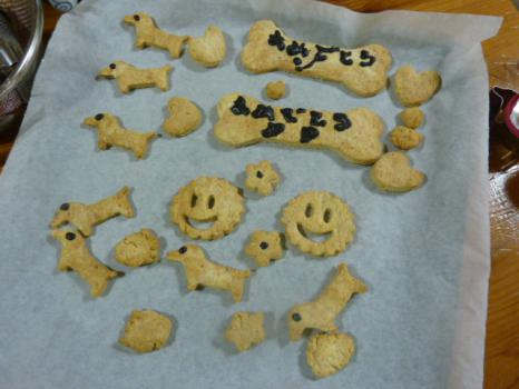 焼いたクッキー