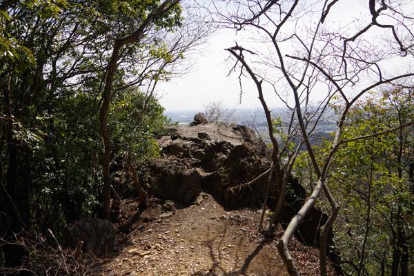 見晴らしの良い岩