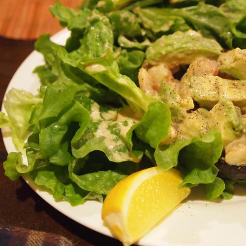 海老とアヴォカドのサラダ