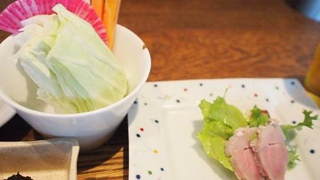 前菜と季節の野菜