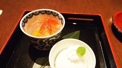 栗アイス・アセロラ蜜豆