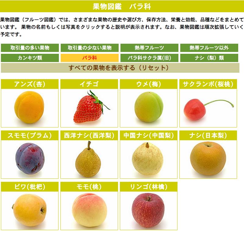 バラ科の果物