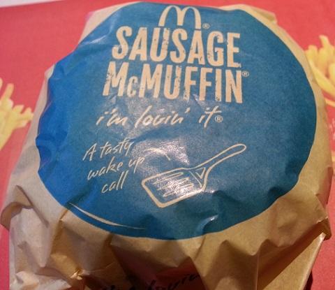 マクドナルドのソーセージマフィン (1)