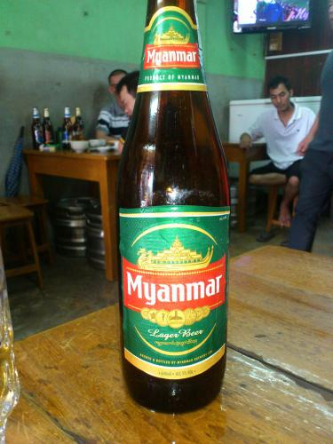 ヤンゴンのミャンマーのビール