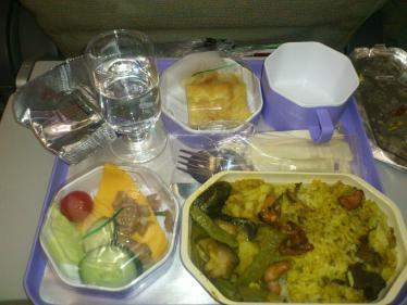 コロンボへの機内食