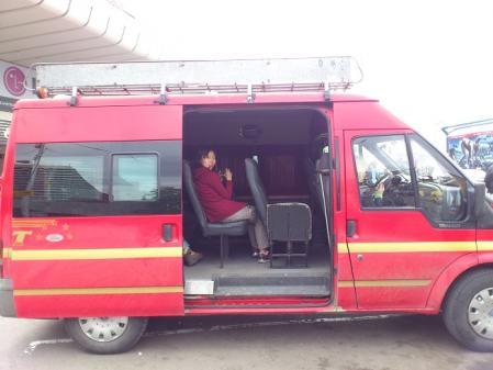 クタイシへ向かうバス