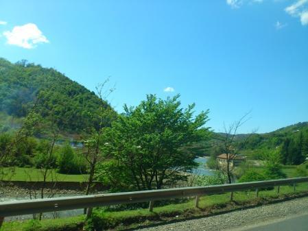 クタイシへ向かうときの景色2