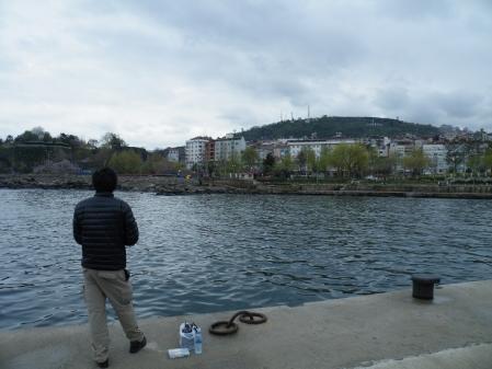 黒海で釣り
