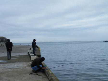 黒海で釣りするおっちゃん