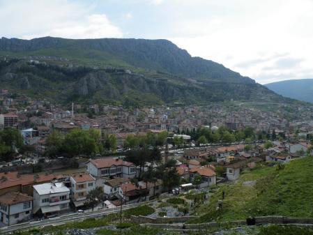 アマスア、山の上から