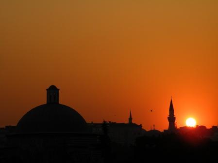夕焼けブルーモスク