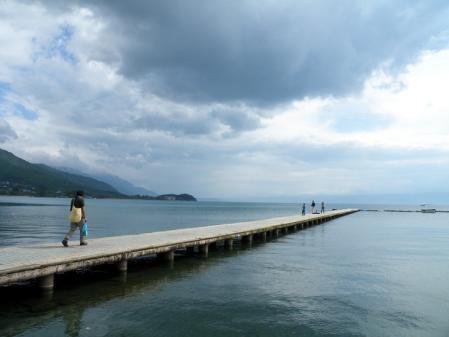 オフリドの桟橋