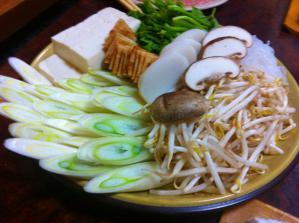 おまつ 鳥たたき鍋 野菜