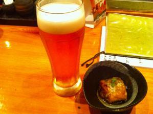 橋本屋 お通しとビール