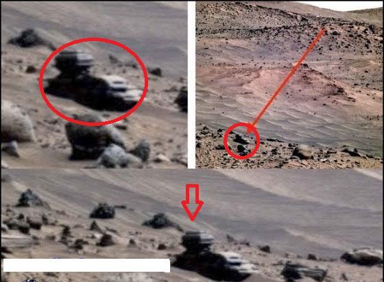 火星の車両があった場所Mars
