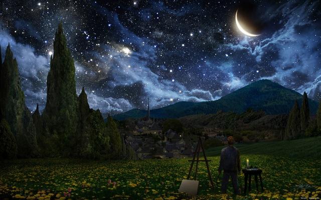 夜空と絵描きimage