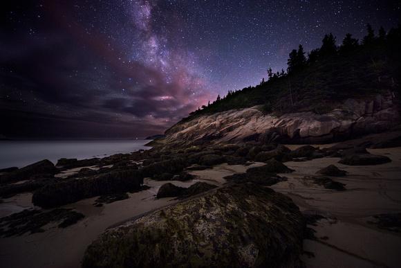 とある海岸と銀河image