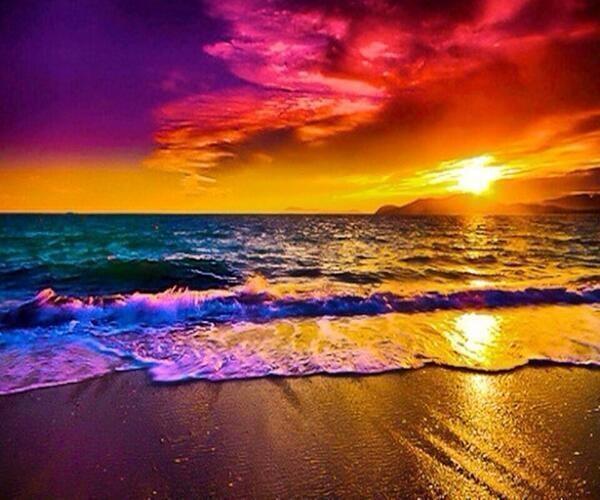 カラフルな落日image
