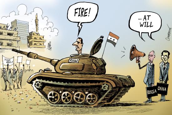 シリアとロシアと中国image