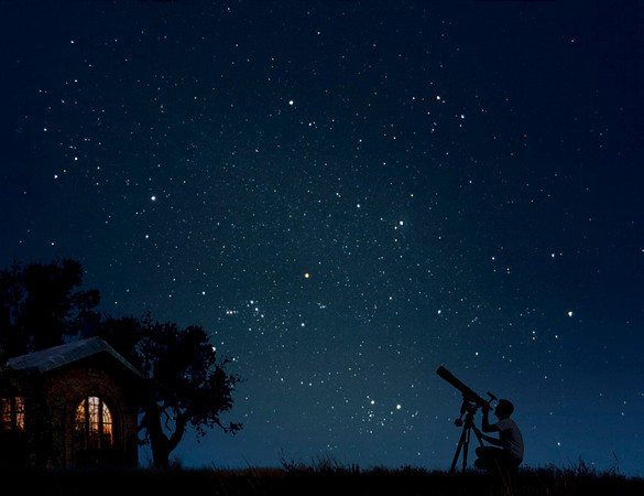 夜空を見る人image