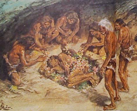 ネアンデルタール人の埋葬image