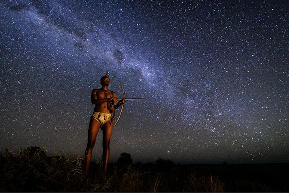 夜空の星とネイティブさんimage