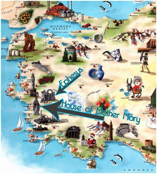 聖母の家への地図image