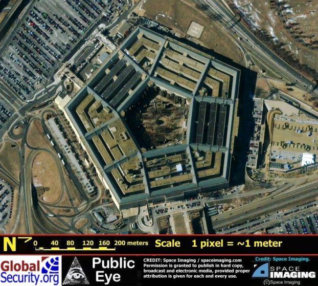 ペンタゴンの衛星写真のimage