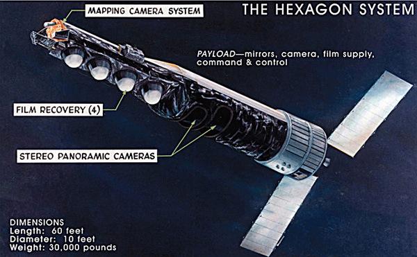 アメリカのKH9型スパイ衛星のimage