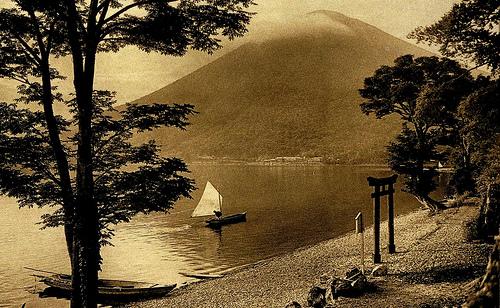 昔の日本の水辺の風景のimage