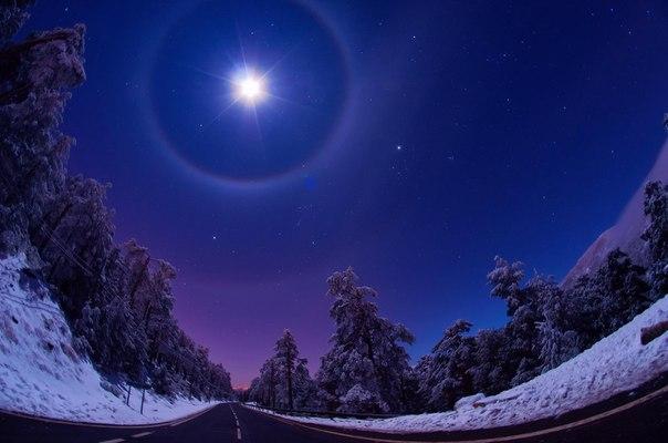 冬の夜空にかかる月なimage