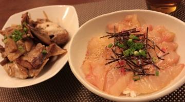 かぶと煮と鯛飯