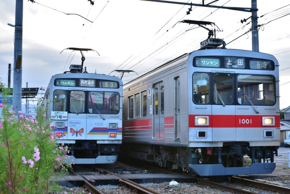 2014年9月27日 上田電鉄別所線 城下 1000系1002F/1001F