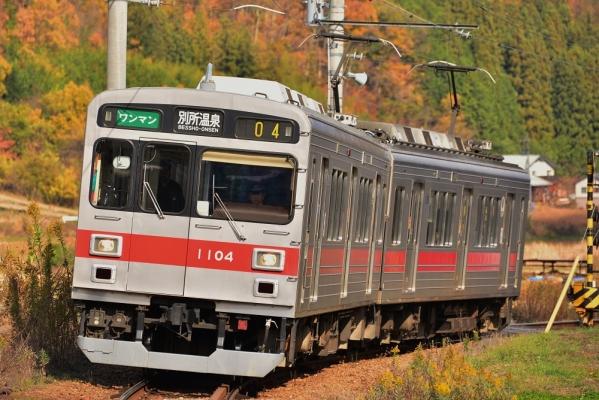 2014年11月15日 上田電鉄別所線 八木沢~別所温泉 1000系1004F