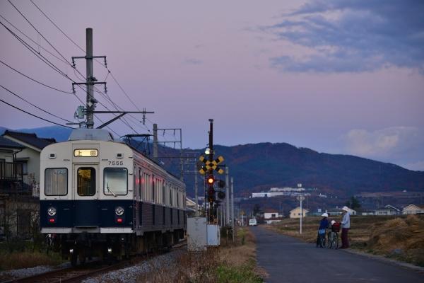2014年11月15日 上田電鉄別所線 舞田~中野 7200系7255F