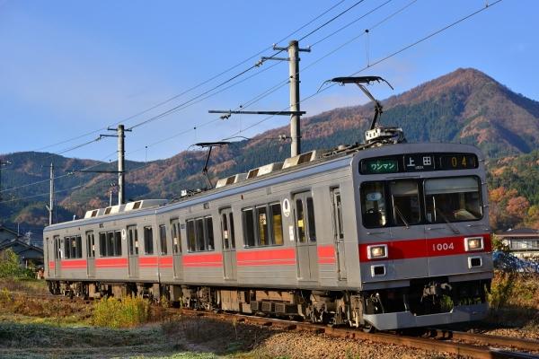 2014年11月16日 上田電鉄別所線 別所温泉~八木沢 1000系1004F