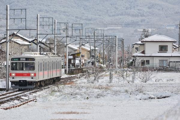2014年12月6日 上田電鉄別所線 中野~舞田 1000系1001F